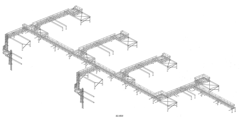 Syncrude Catwalks - TGC Consulting Services - Miscellaneous & Structural Steel Drawings, Fabrication and Detailing