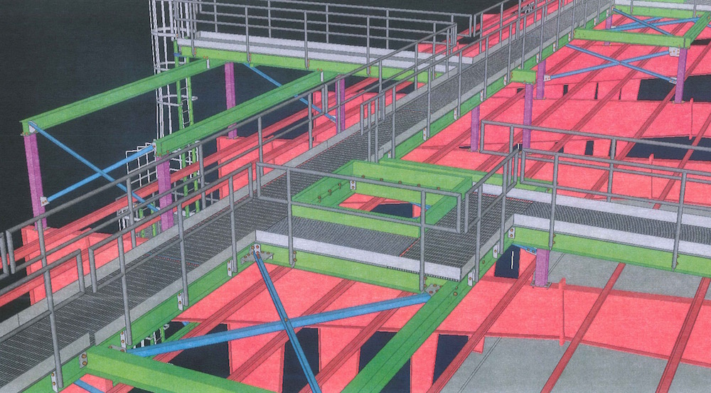 Syncrude Catwalks - TGC Consulting Services - Miscellaneous & Structural Steel Drawings, Fabrication and Detailing - catwalks