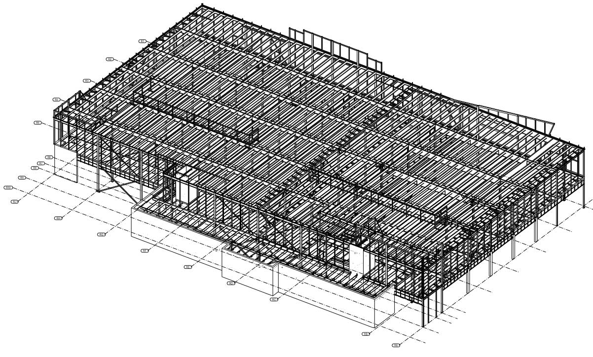 Canadian Tire Retail Store Steel Drawings