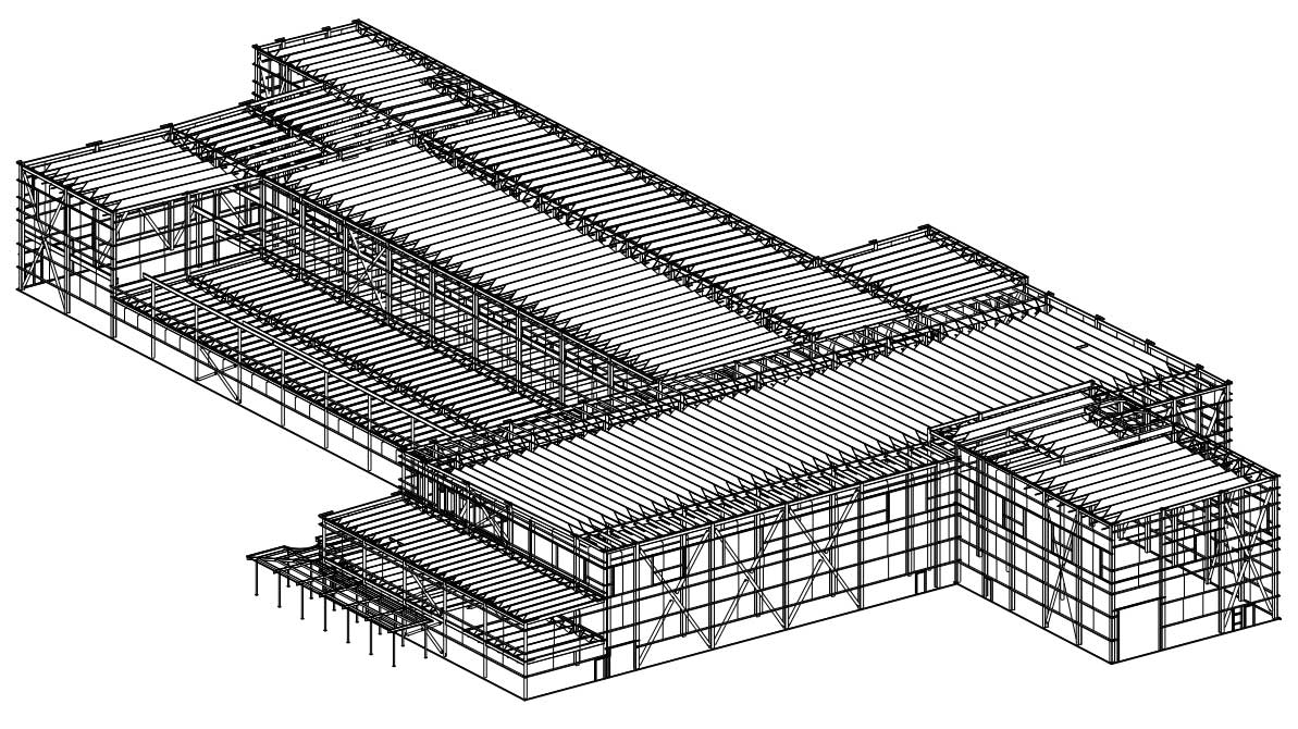 3D Tekla Steel Detailing