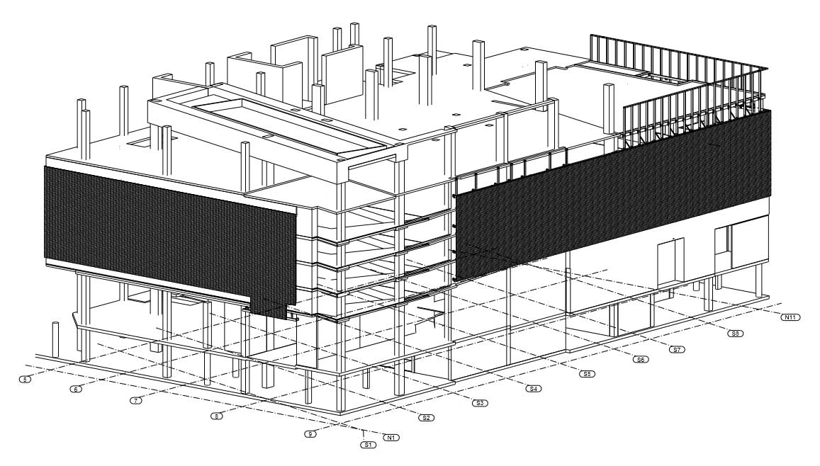 255 South King Street Mesh Screen Suppport Drawings